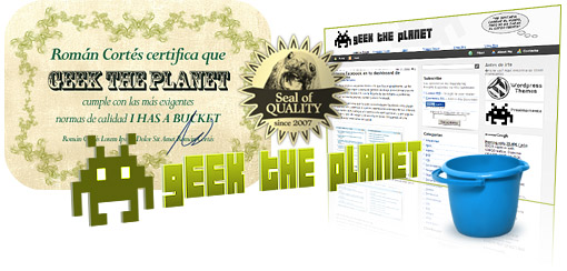 Sello de calidad para Geek the Planet