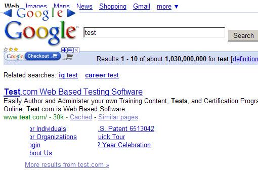 Google bug