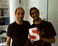 Vitaly Friedman and Román Cortés at the Smashing Magazine office