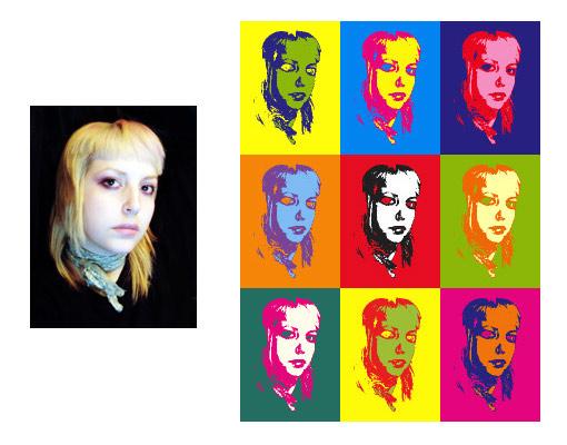 Ejemplo generador de imágenes Warhol